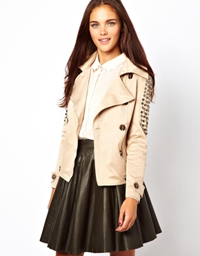 Jovonnista studded Trench Jacket $85.43. us.asos.com.