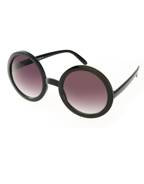 ASOS Black Round Sunglasses $17.80