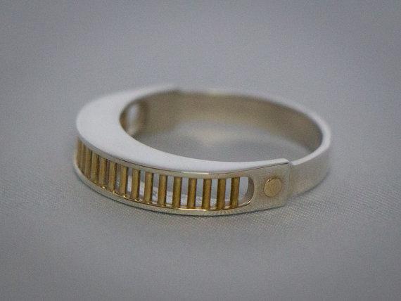 Visor Ring Sterling Silver
