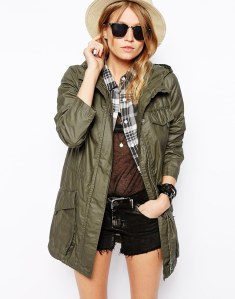 ASOS Lightweight Rain Parka with Patch Pockets, $94.75