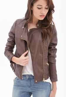 Forever 21 Faux Leather Moto Jacket, $42.80