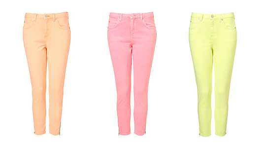 nearlyNeonPastelSkinnyJeansColoredDenim